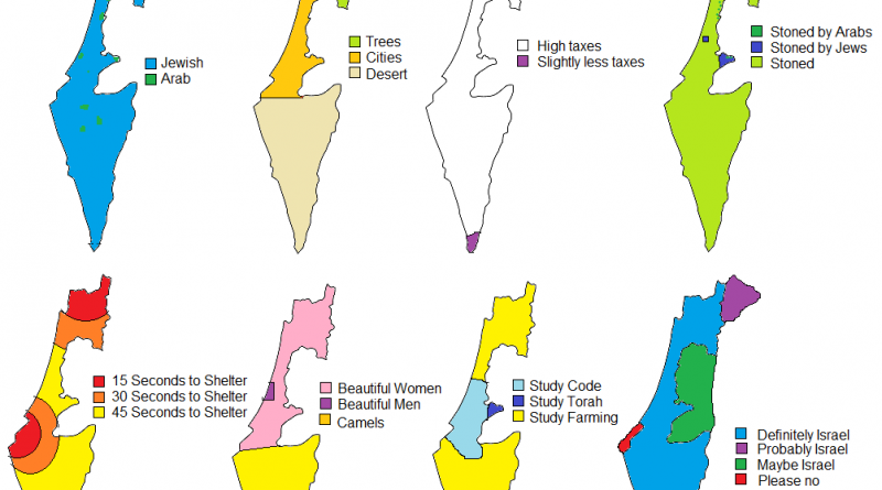Mappitn Stereotipes: Eight ways to divide Israel