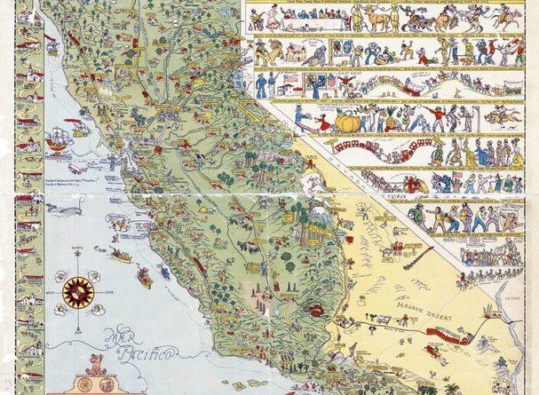 Illustrated Tourist Map of California, 1927