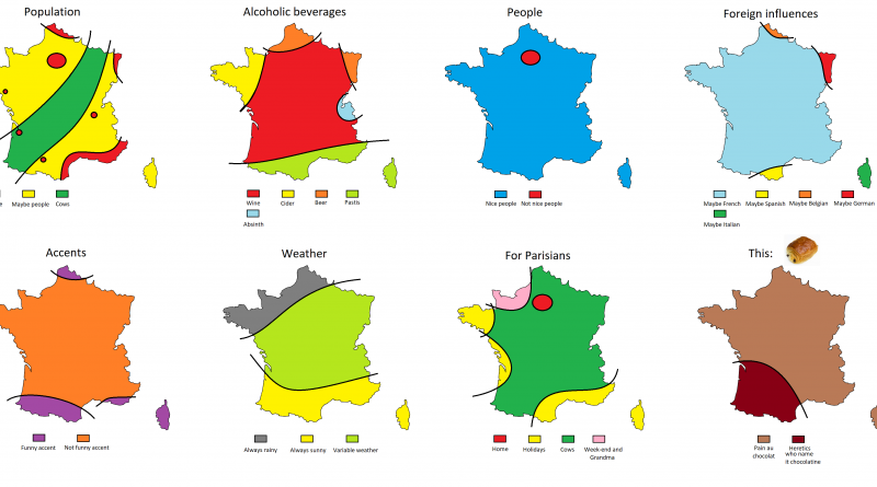 Eight ways to divide France