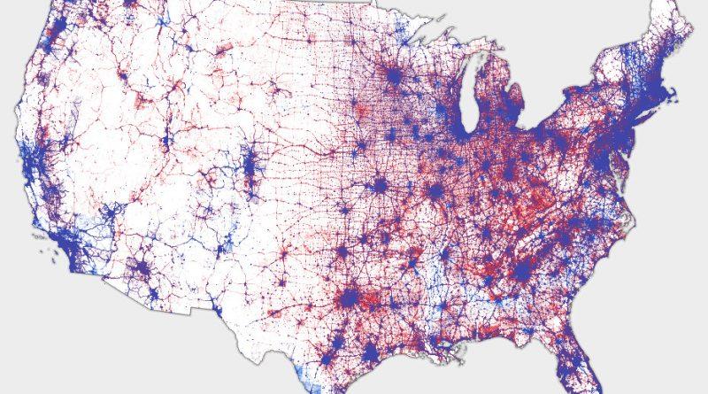 U.S. Election: dot map