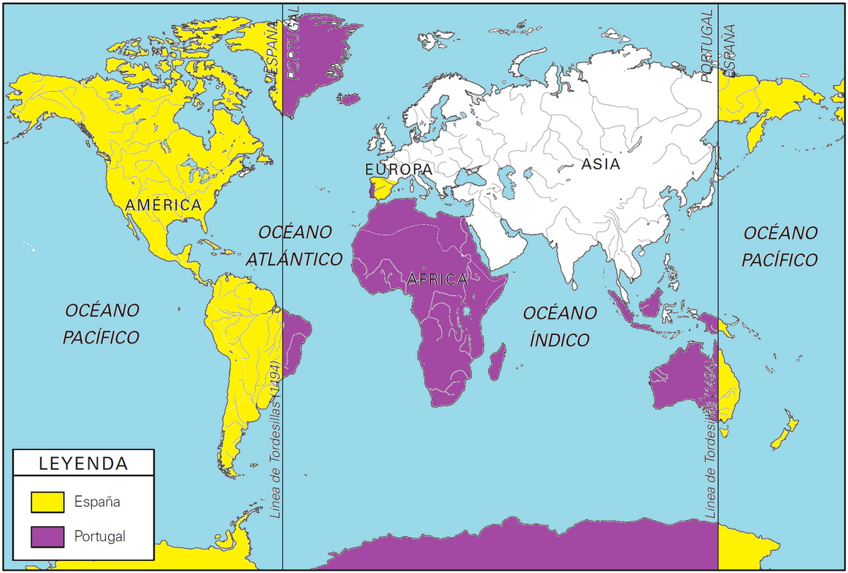 Picture of: On This Day June 7 1494 Spain And Portugal Divided The World Between The Two Nations Vivid Maps