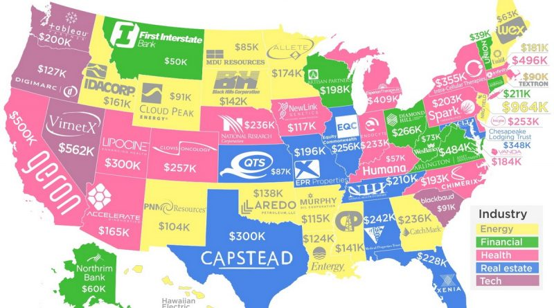 The Highest-Paying Companies in Every State