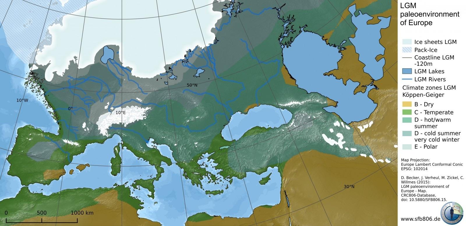 map of europe during ice age The Last Ice Age in Europe   Vivid Maps