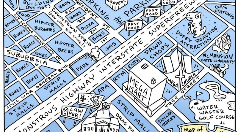 Map of every US city