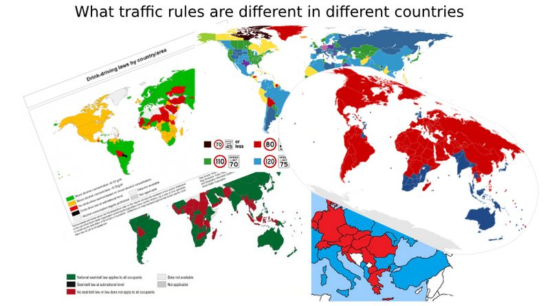 What traffic rules are different in different countries