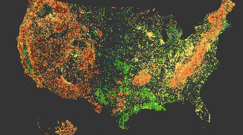 Linguistic relief map