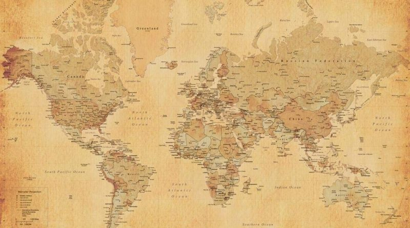 Antique Poster Map