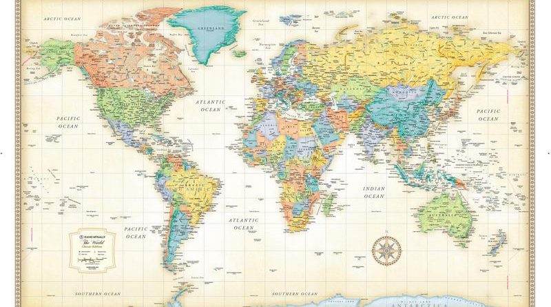 Classic Edition World Map Poster
