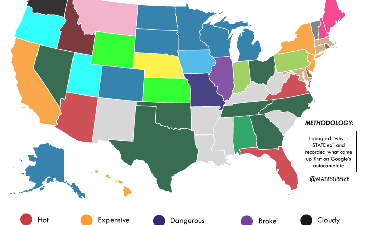 How google autocomplete describes the United States