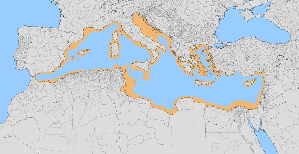 Land that would have surfaced had Atlantropa happened