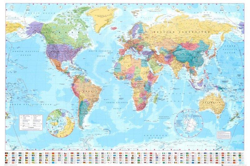 GB Eye World Map Poster