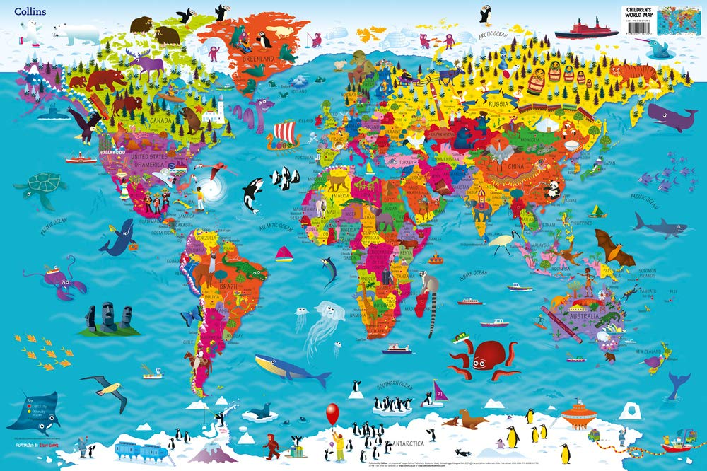 World Map poster for kids