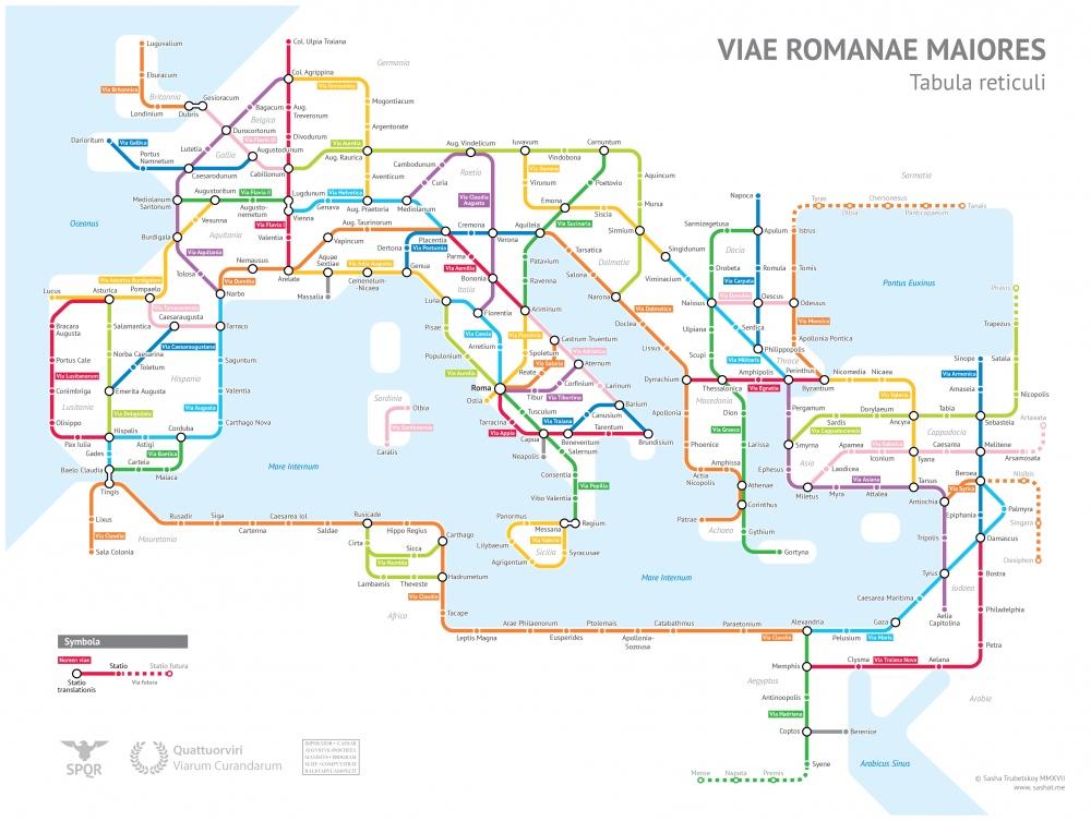 Map of Roman Roads