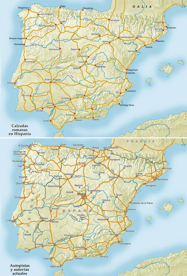 Roman roads in Spain