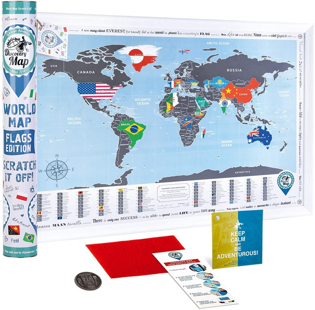 Scratch map for kids