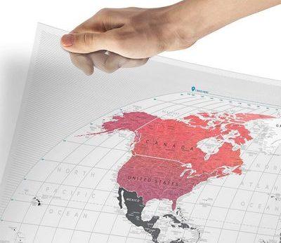 transparent scratch of world map