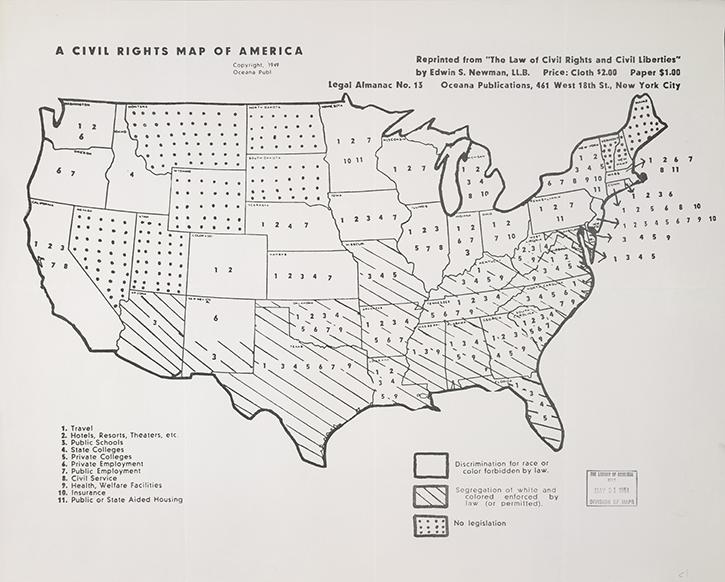 A civil rights map of america