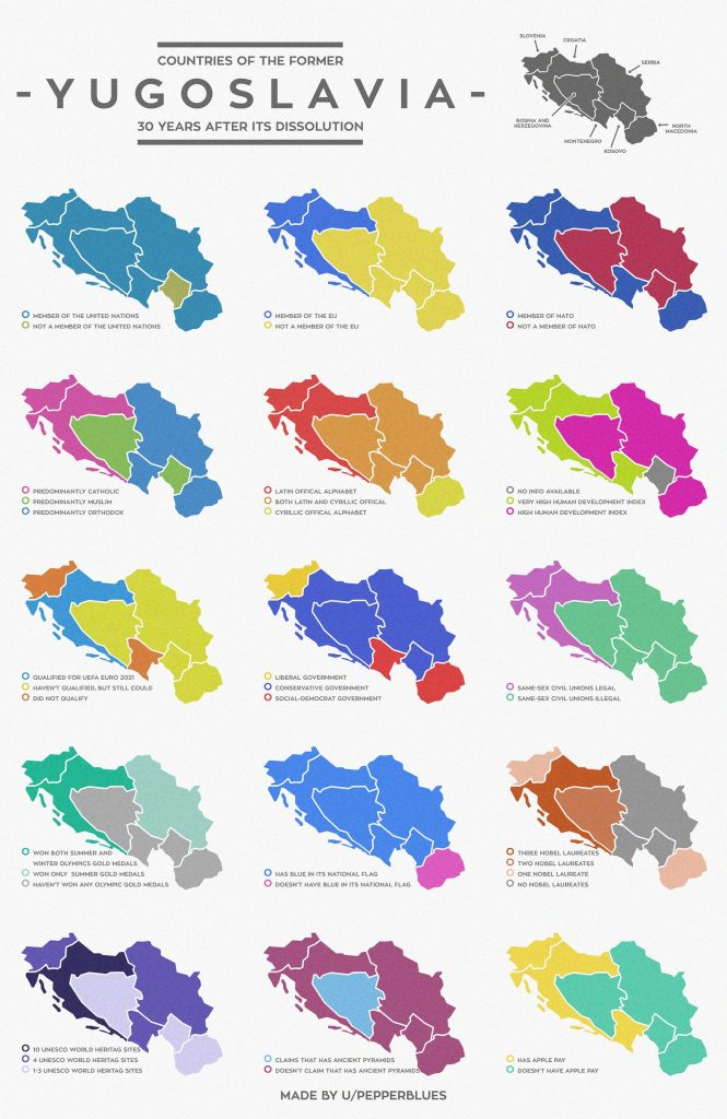 Atlas of the former Yugoslavia 30 years after its dissolution