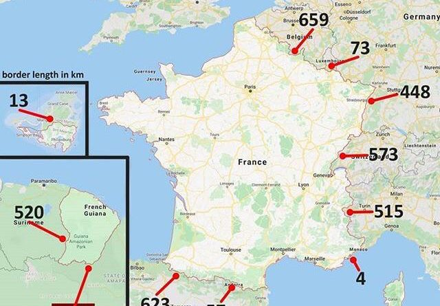 French border map