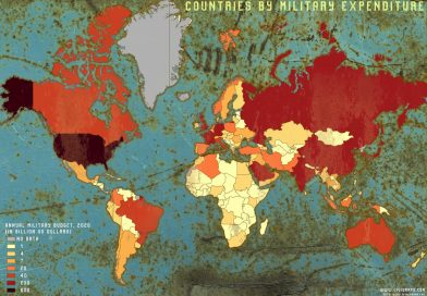 Map of the Biggest Military Budgets