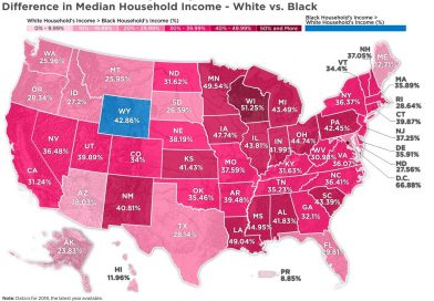 Racial income gap in the U.S.