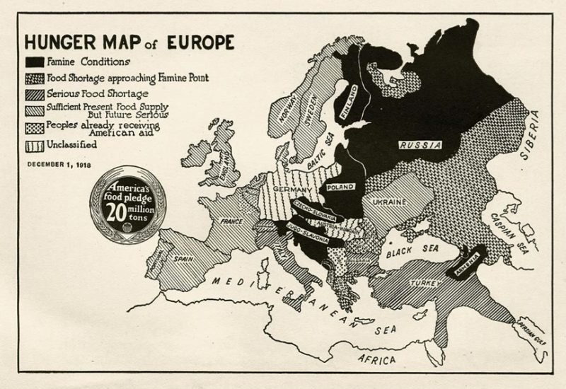 Hunger map of Europe