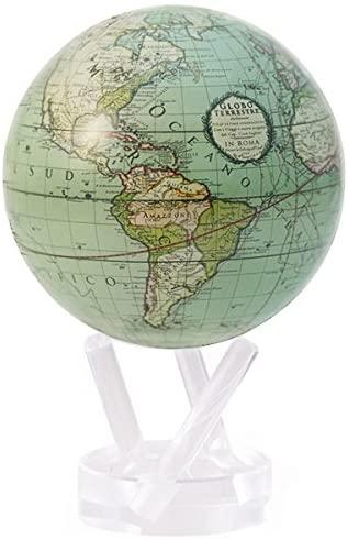 Antique Terrestrial Green World Globe