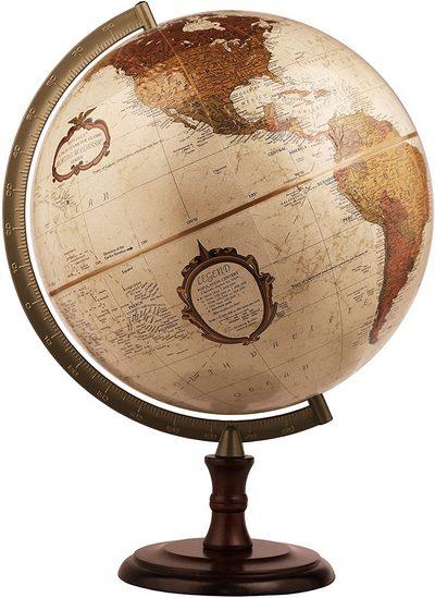 Bronze world globe