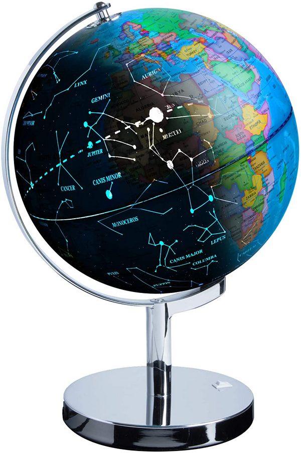 LED Illuminated Earth and Constellation Globe