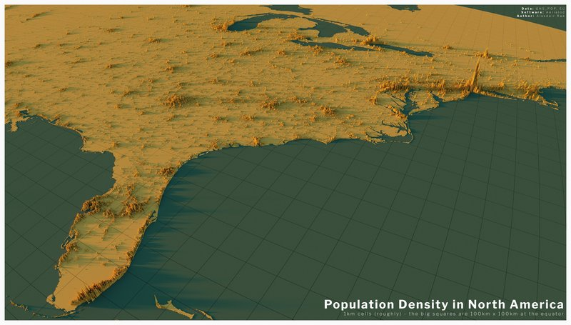 Population Density in North America