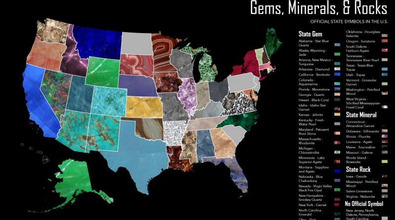 Map of U.S. minerals