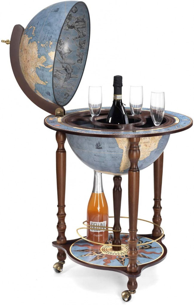 Globe Drink cabinet  with Certificate of Authenticity
