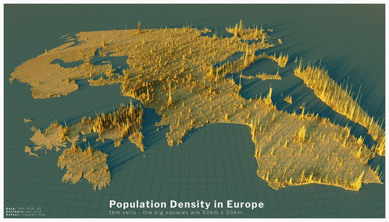 European population density