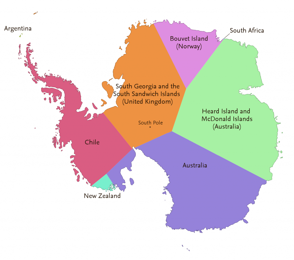 The map of splitting the continent into zones depending on which country is nearest to any given location.