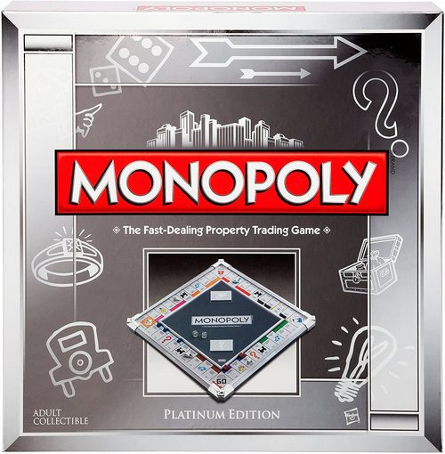 Metallic Board Game Monopoly Platinum Edition