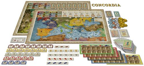 Concordia board game map