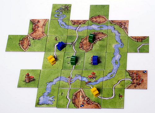 Carcassonne strategic board game