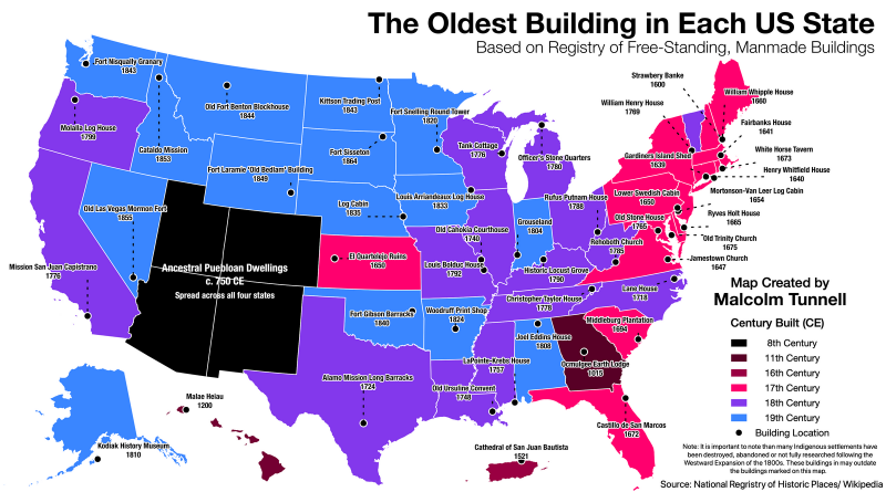 The Oldest Building in the U.S.