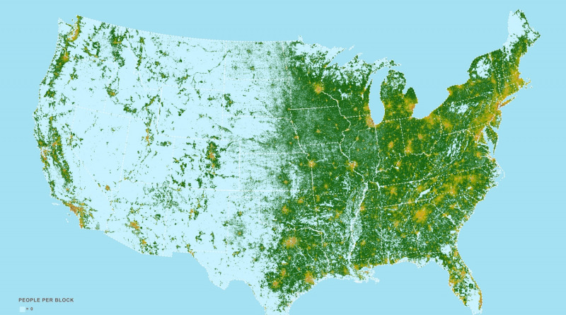Map of the U.S. population density