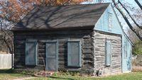 Log cabin in Nebraska
