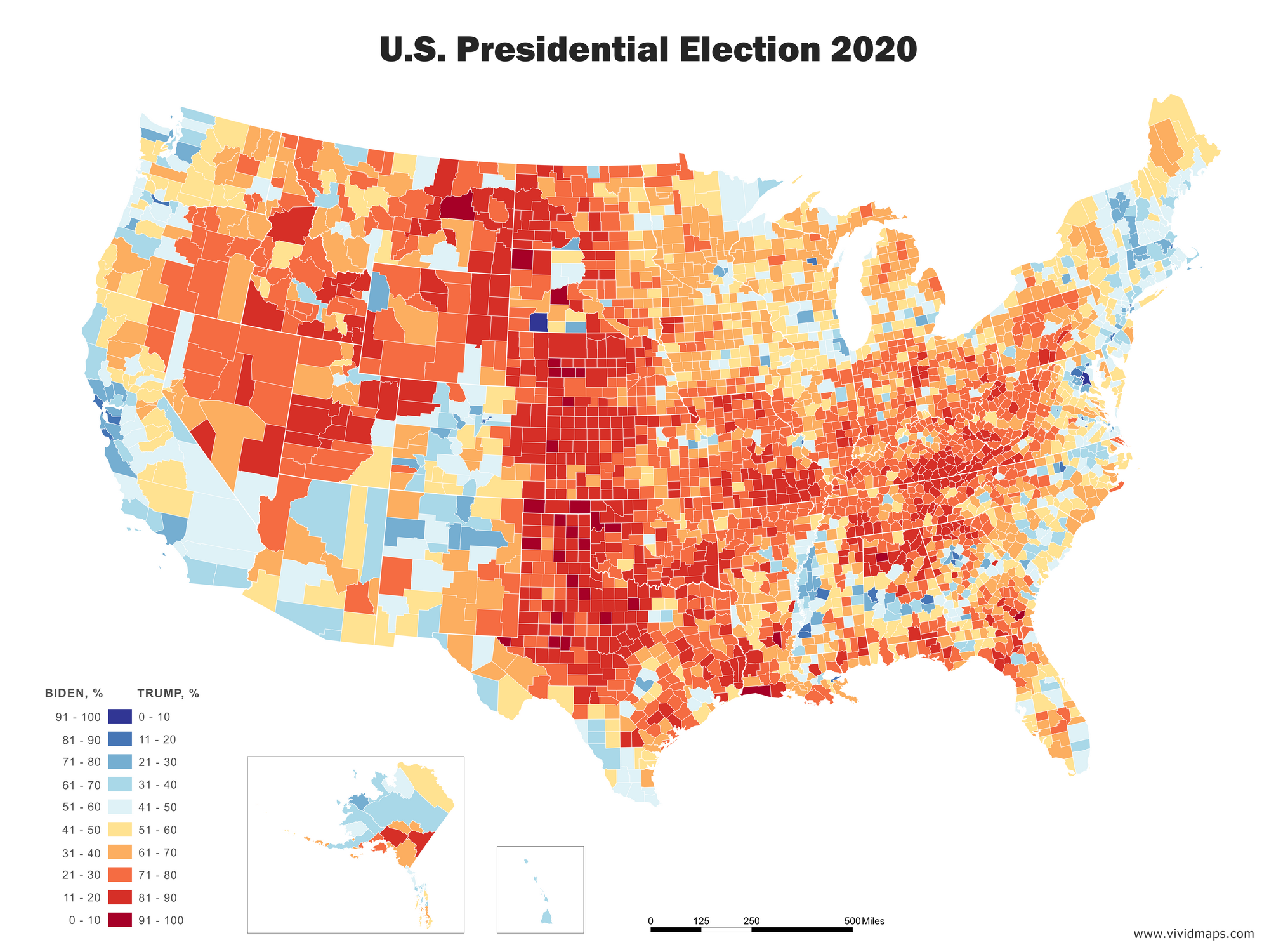 Map of the U.S. Election 2020