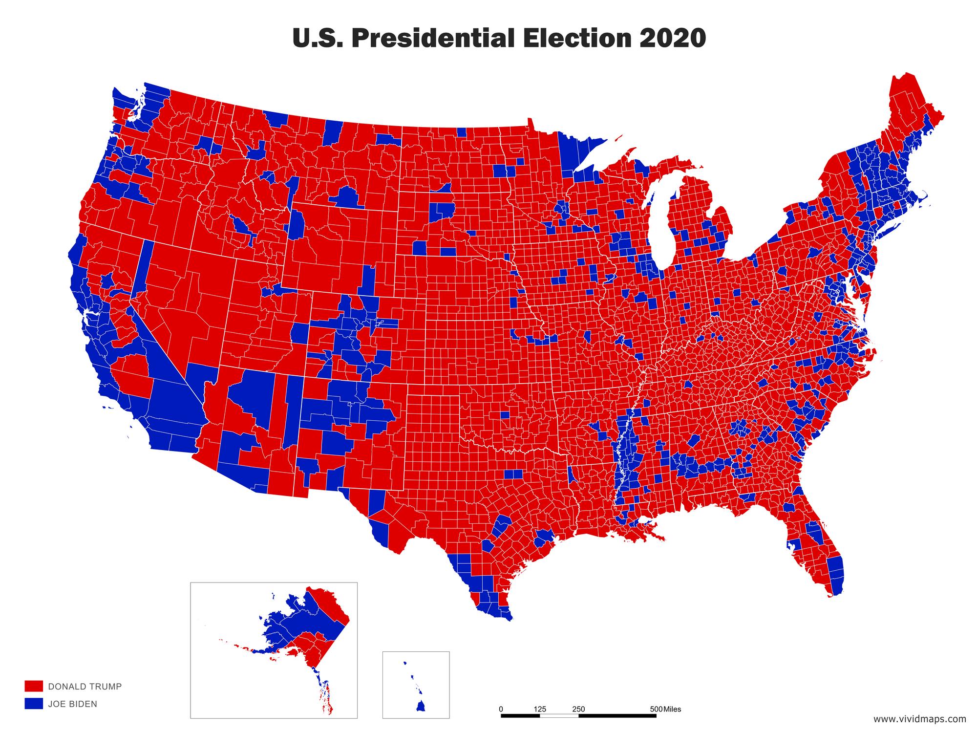 U.S. Election map 2020