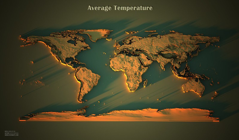 World map of Average Temperature