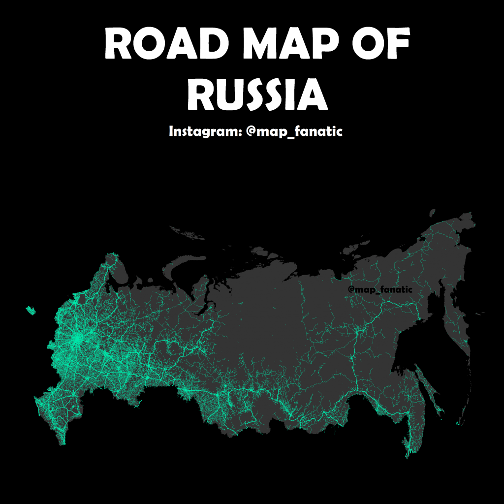 Road map of Russia