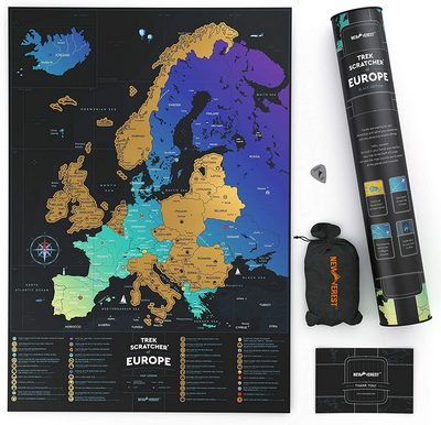 Europe Scratch-Off Map Poster