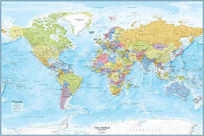 Large Map Poster of the world