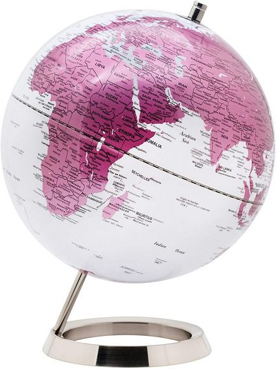 World Globe with Stainless Steel Base