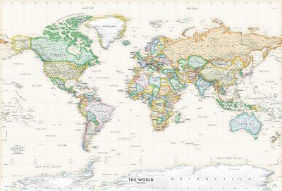 Executive Wall World Map Poster