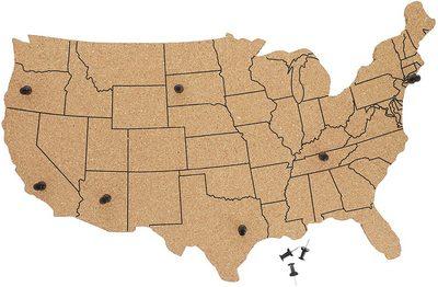 The U.S. Map Pin Bulletin Board