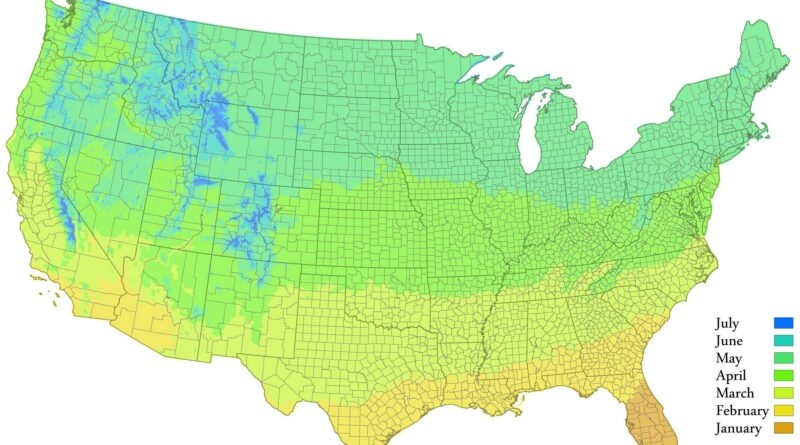 Spring in the U.S. mapped